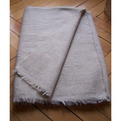 2. 100% sheep wool undyed blankets handwoven - white blanket