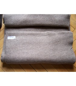 577 grams - Handwoven wool cloth-natural brown - grey colour