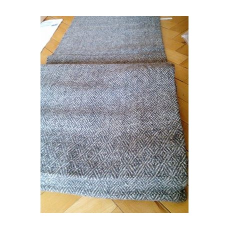 480 grams - Diamond weave wool cloth - 100% handspin ! Width 100 cm