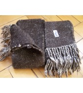 Hand woven leg wraps - Winnigas in natural dark brown colour