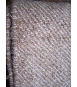 Twill 2/2 405 grams - mix off white and brown fabric from hand spin thread
