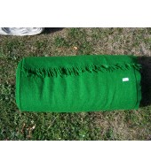 Twill 2/2 535 grams - Green - dyed fabric from off white hand woven, 100% hand spun thread (32)