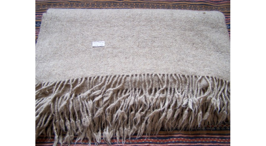 Blanket from 100% hand spun sheep wool thread
