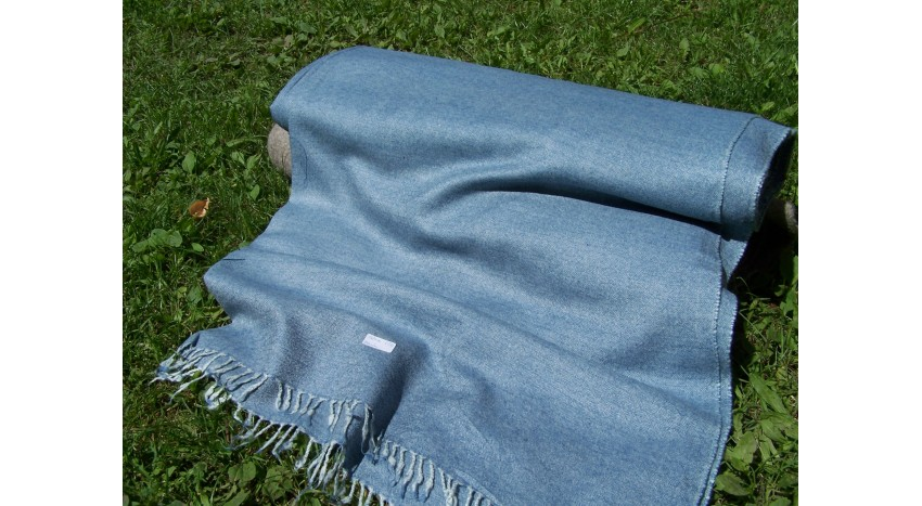 Sea blue diamond 210 grams beautifull and soft wool fabric