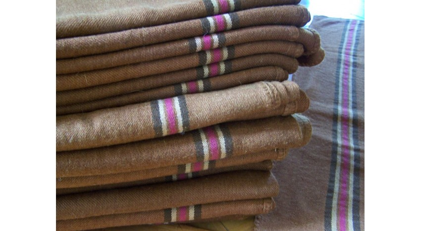 Army wool blanket hand woven - light